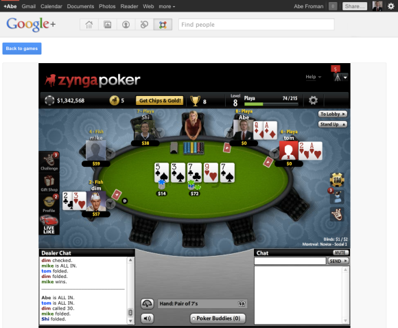 Google plus poker