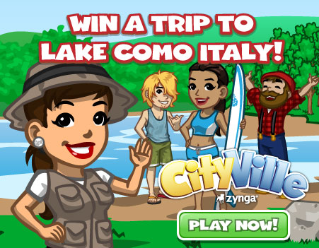 Win a Trip to Lake Como, Italy! Play Cityville Now!