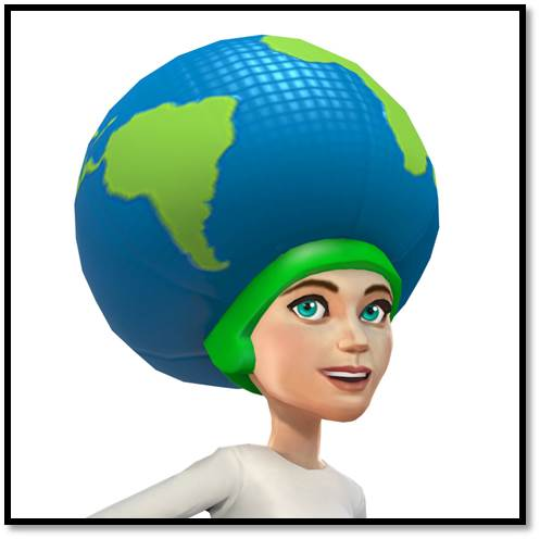 Earth Day helmet
