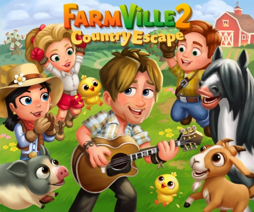 Keith Urban in FarmVille 2 Country Escape