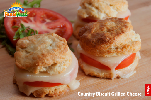 FarmVille 2 Country Escape: Country Biscuit Grilled Cheese inspired by the game! Download the recipe at: https://zynga.box.com/s/9sfot990cq50afrqdk2r