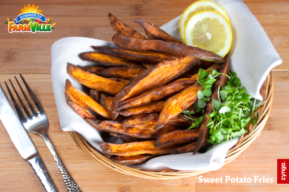 FarmVille 2 Country Escape: Sweet Potato Fries inspired by the game! Download the recipe at: https://zynga.box.com/s/vwskx1ouj2jy4dqnz8j7