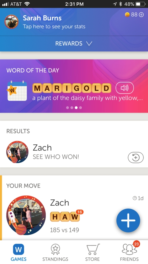 Words With Friends 2 Lobby Screenshot